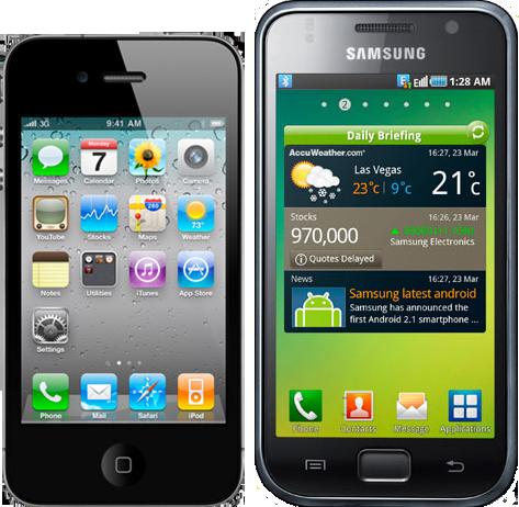 iPhone 4s vs Galaxy S 1