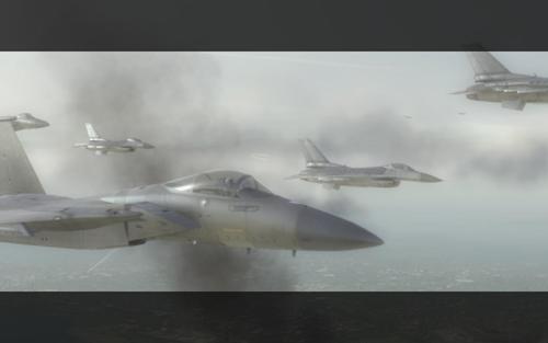 Эскадрилья летит в бой
