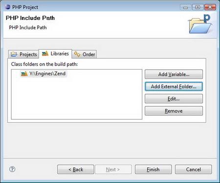 В следующем экране можно выбрать 'присоединенные' проекты. Например, фрэймворки
