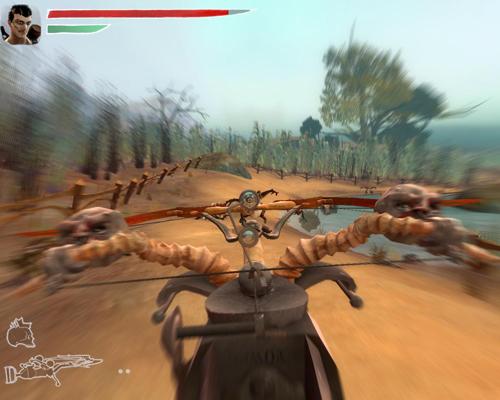 Стрельба из арбалета по чудо-страусам
