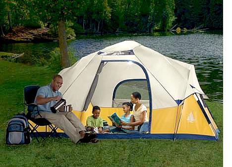 семейный отдых с палаткой и рыбалкой