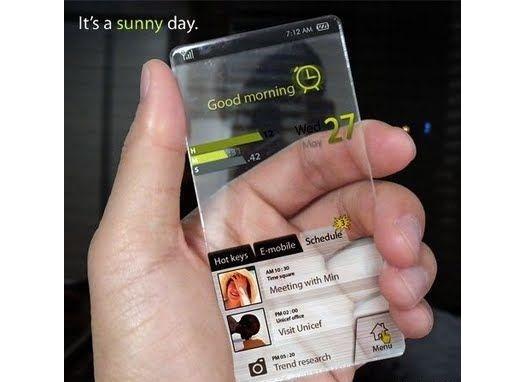 прозрачный телефон Samsung