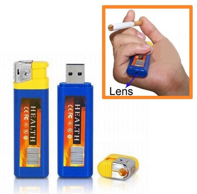 Cigarette Lighter Hidden Camera Video Audio Recorder