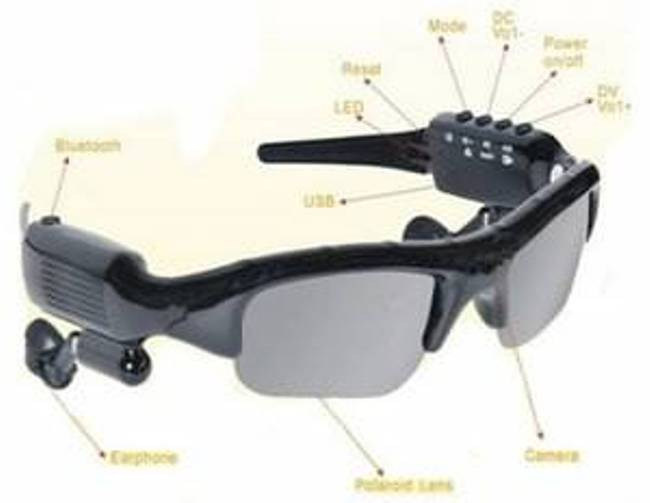 Sunglasses with MP3 player and FM Radio