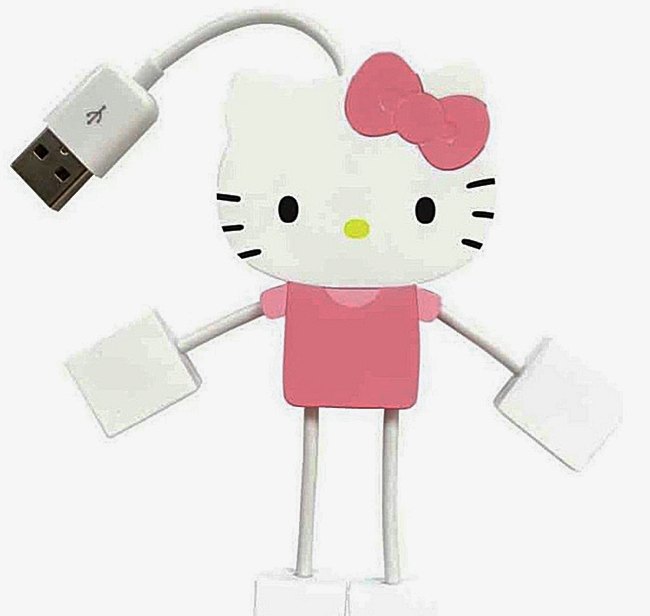 The Hello Kitty 4-Port Hub