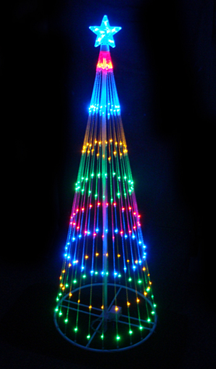 4' Multi-Color LED Light Show Cone Christmas Tree