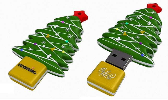 8GB USB Drive <USB 2.0> ICONIK Ёлка