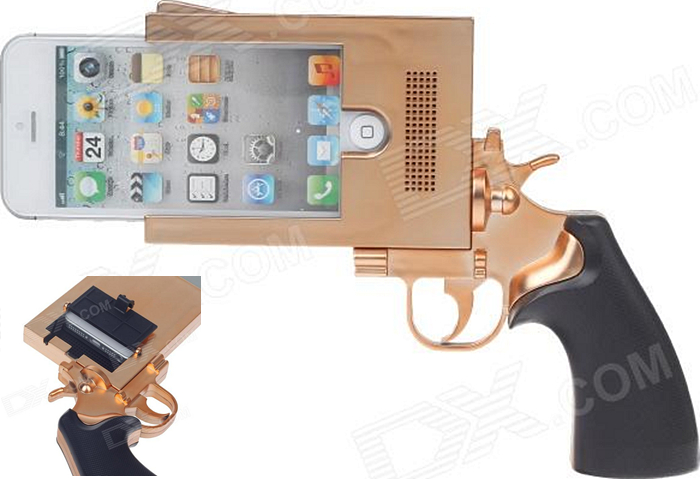 Pistol Style Protective Plastic Case for iPhone 5
