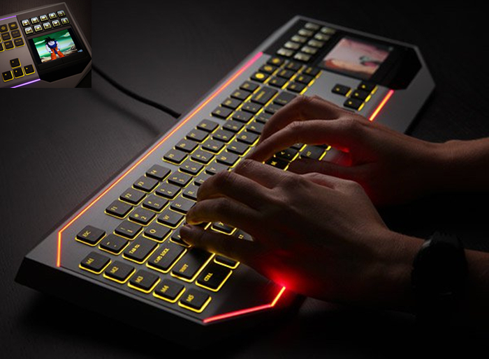 Star Wars Keyboard With LCD Touchpad