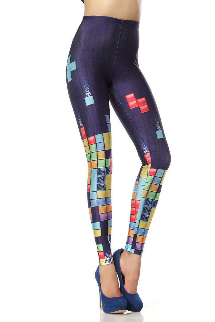 Chendvol Tetris Game Print Leggings Dk050 for Women
