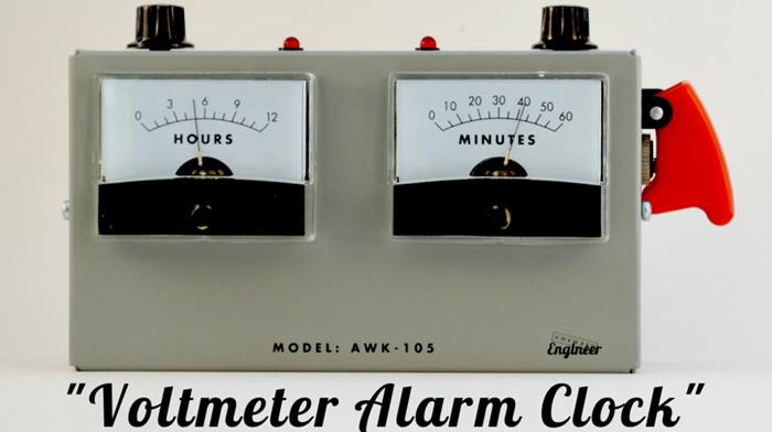 AWK-105AL Analog Voltmeter Alarm Clock