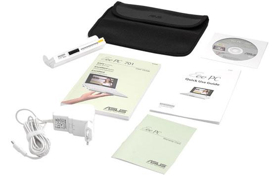 Asus Eee PC комплект поставки
