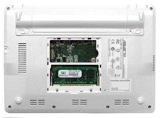 Asus Eee PC отсек для оперативной памяти