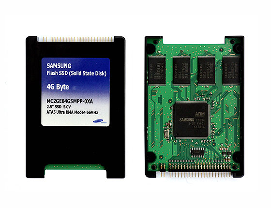 SSD от Samsung - весьма скромный объем