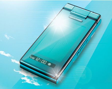 Sharp KDDI телефон на солнечных батареях
