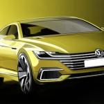 Volkswagen Sport Coupe Concept GTE будет представлен в марте