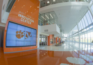 The interior of the Watt Family Innovation Center at Clemson University, Jan. 7, 2016. (Photo by Ken Scar)