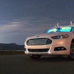 Ford протестировал автономный автомобиль Ford Fusion Hybrid ночью