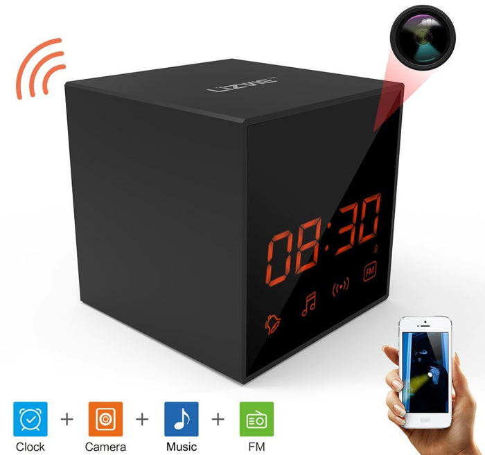 Hidden Spy Cube Clock Nanny Camera