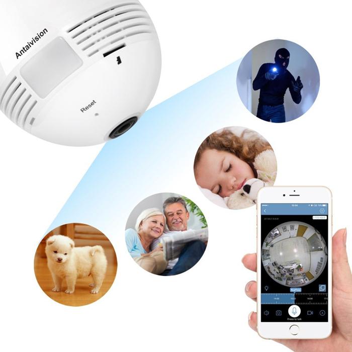 Wifi Wireless IP Bulb Hidden Camera