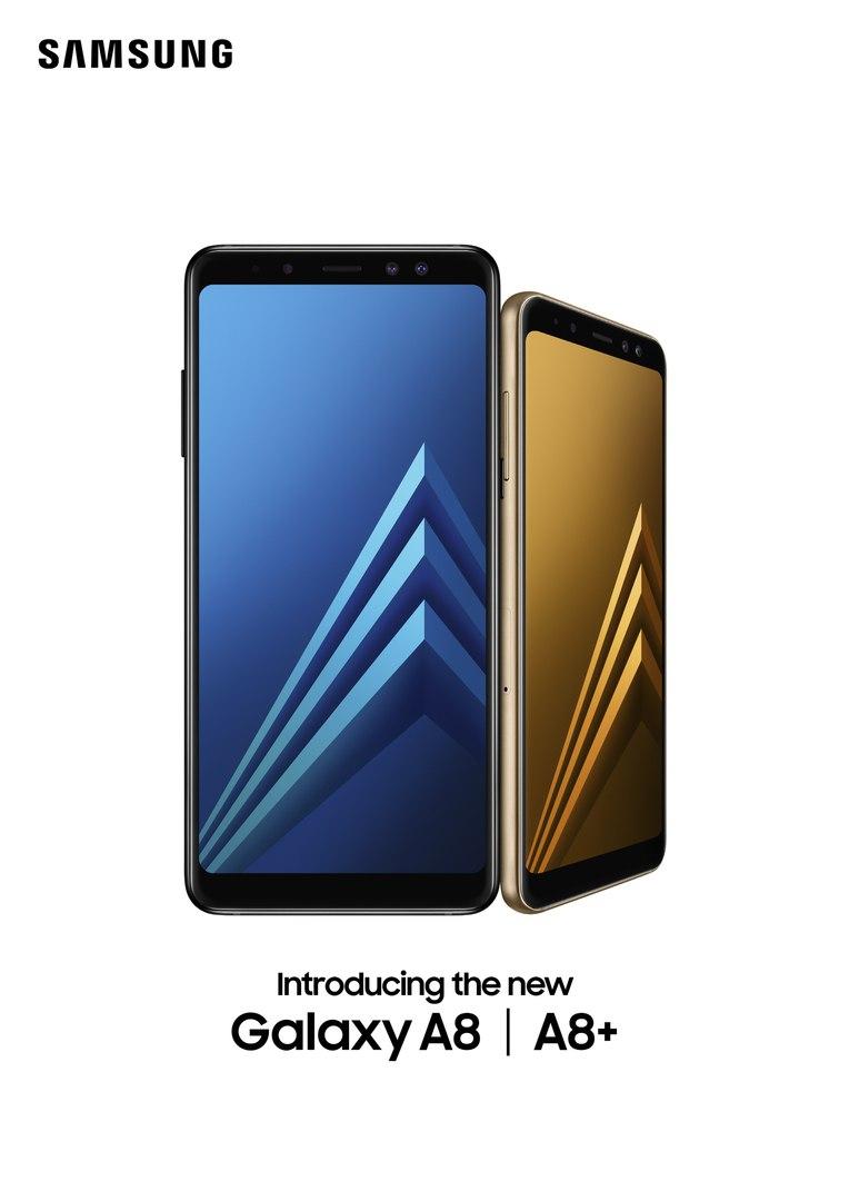 Новые смартфоны Galaxy A8 и A8+