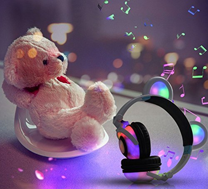 iGeeKid Kids Headphones Bear Ear-Inspired