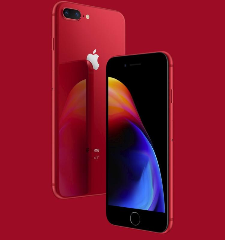 Новые смартфоны iPhone 8 и 8 Plus RED Special Edition