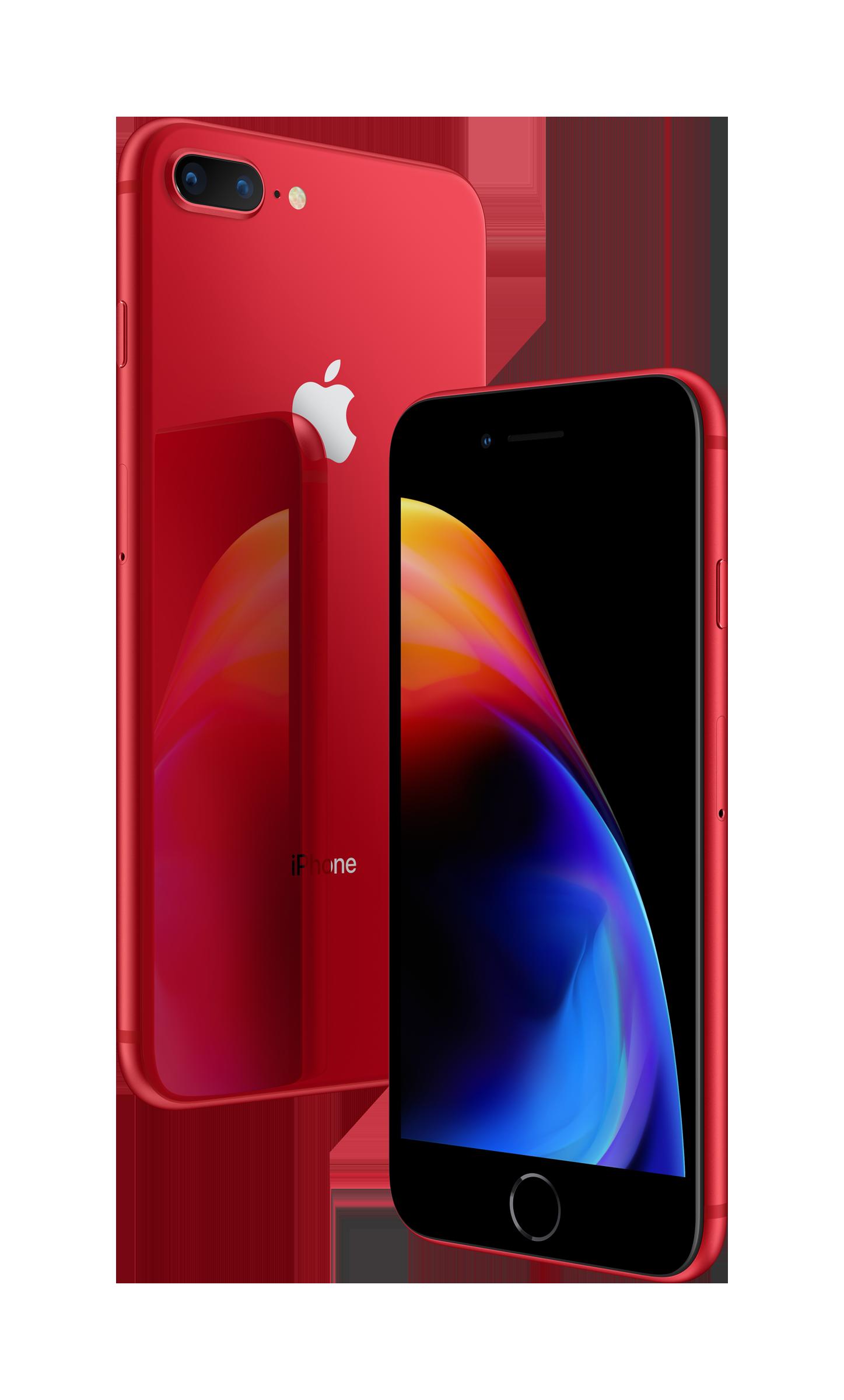 красный iPhone 8
