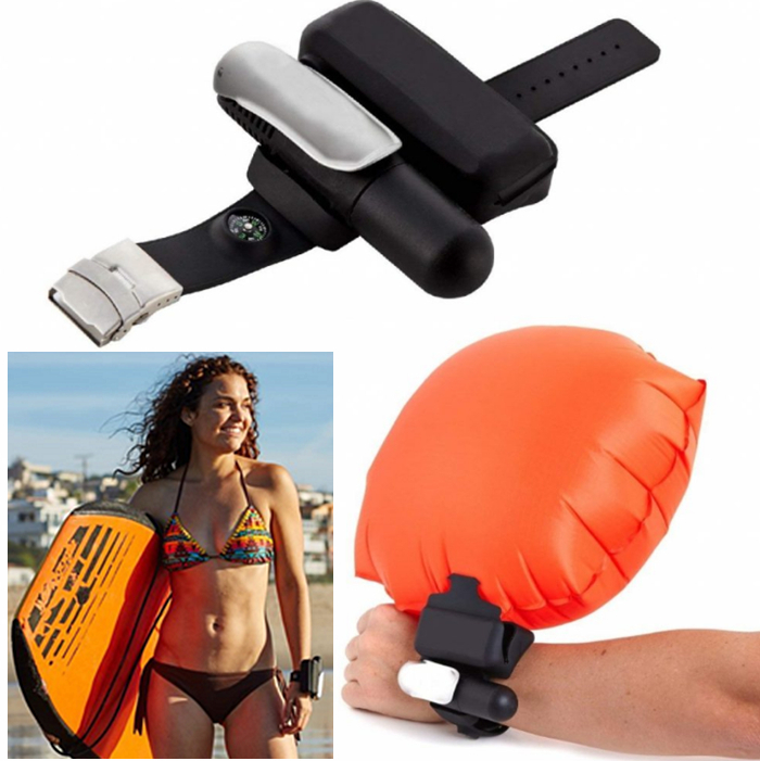 Portable Wearable Safety Inflatable Rescue Device